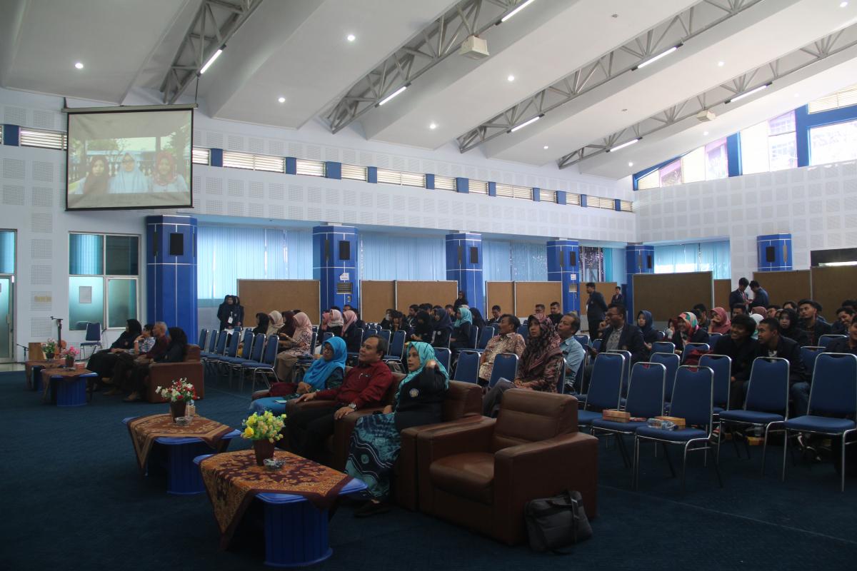 Pemutaran Video DIPAM 2019 disaksikan oleh Dosen dan Delegasi kelas Jurusan Akuntansi 2019